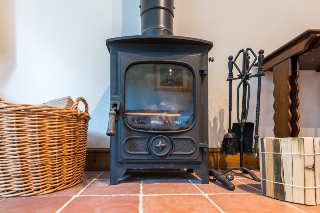 The woodburner at Neaps in Hickling